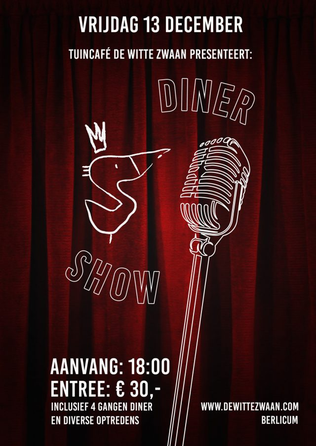 WitteZwaan poster Diner-Show