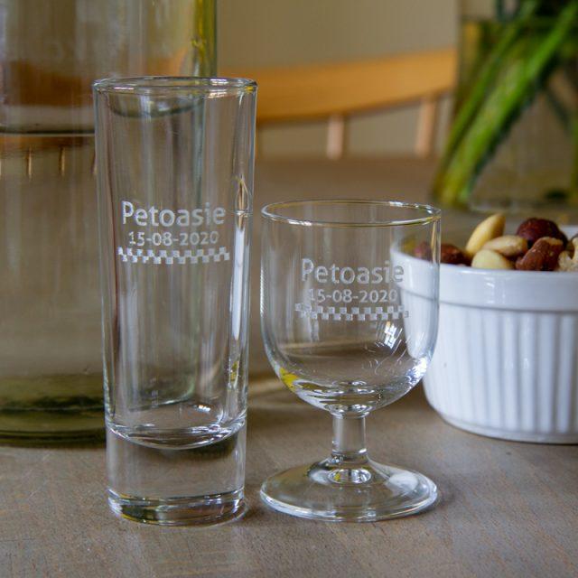 persoonlijk glas voor je feest